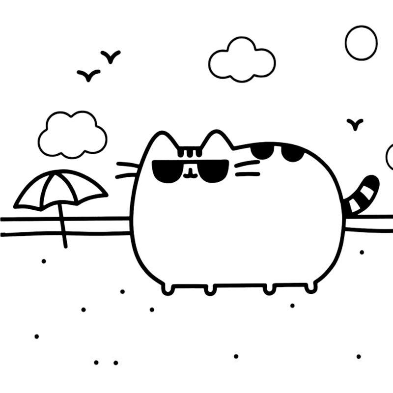 Pusheen Dibujos Animados Para Dibujar Gatito Para Colorear
