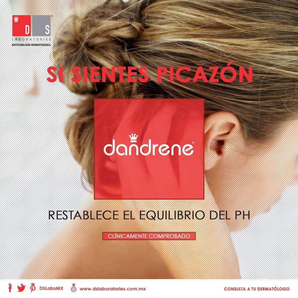 Uno de los principales indicadores de #caspa es la sensación de picazón en la piel cabelluda. Restablece el equilibrio del pH y logra eliminarla de manera efectiva con #Dandrene.
