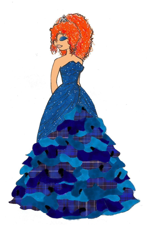 Designer Disney: Merida by Becca-Emmett.deviantart.com
