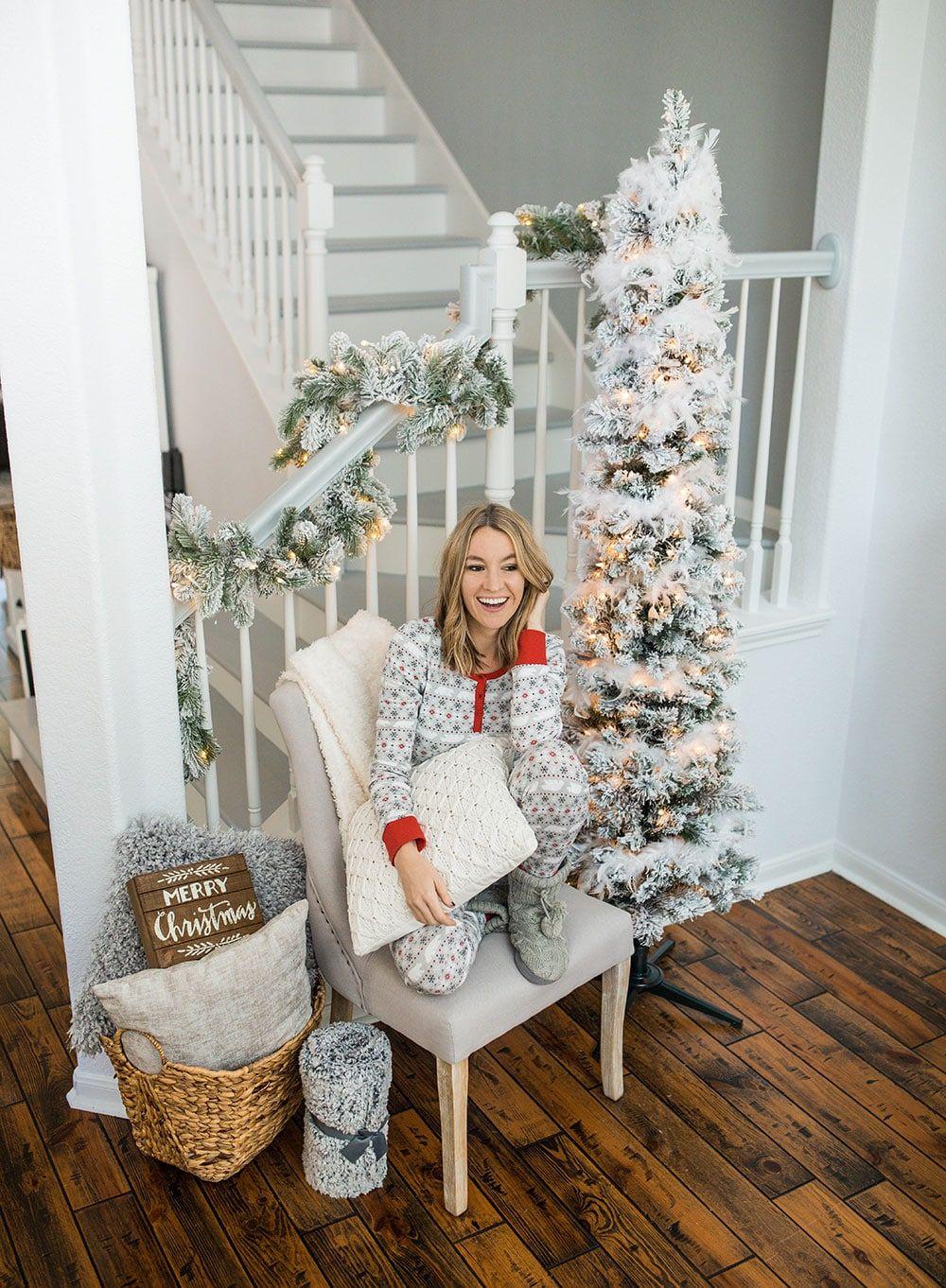 My Favorite Affordable Flocked Christmas Tress Life By Lee Christmas Tress Glam Christmas Decor Skinny Christmas Tree