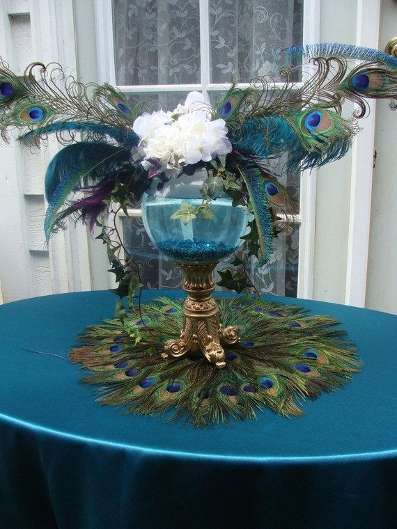 Delightful Peacock Themed Wedding Table Settings   Google Search