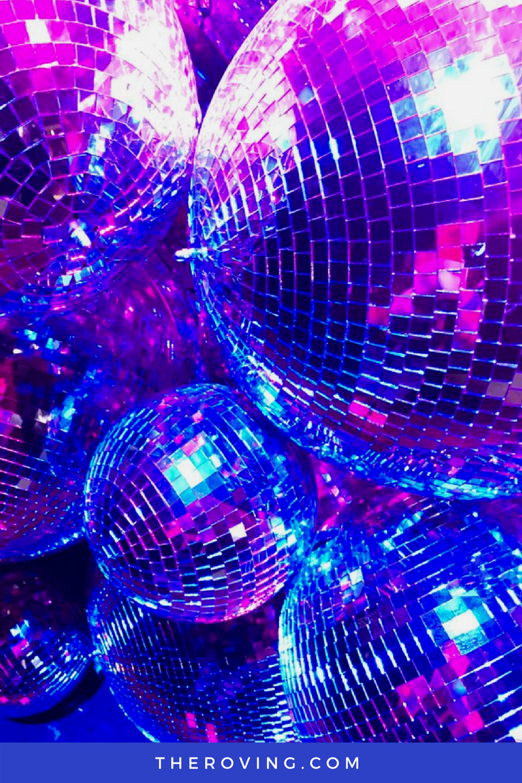 Neon Lights And Disco Balls Photo Wall Collage Pastel Interior Design Bedroom Wall Collage