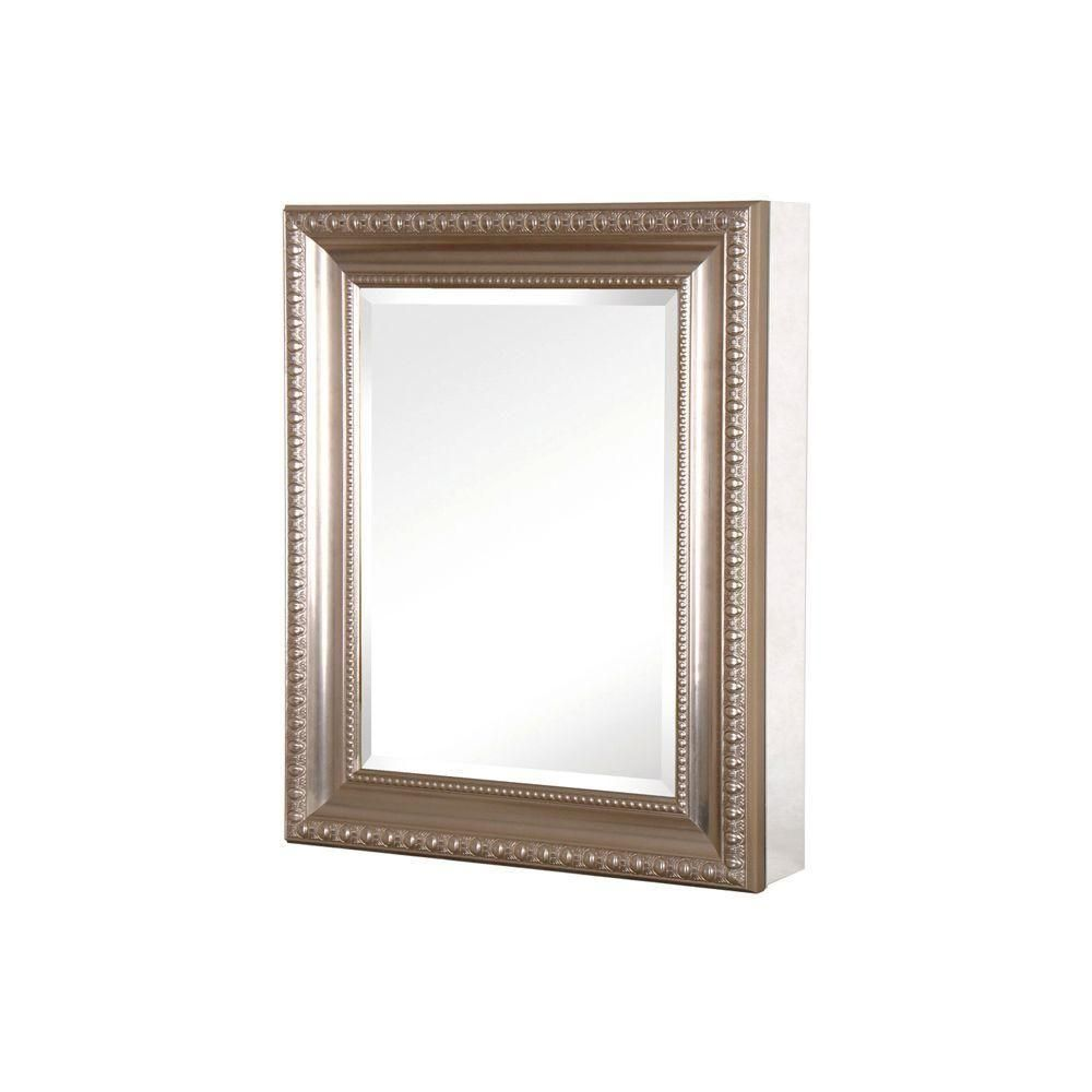 Home Depot Medicine Cabinet With Mirror Prepossessing Pegasus 24 Inw X 30 Inh Framed Recessed Or Surfacemount Design Ideas