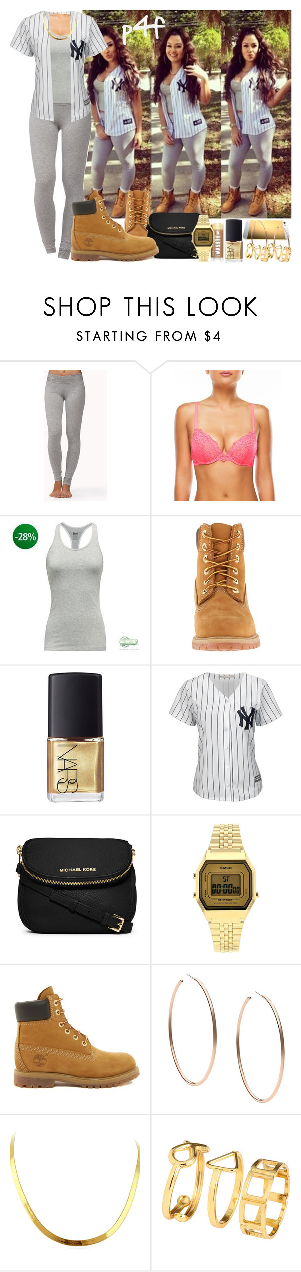 """""""Passion 4Fashion: Clean"""" by shygurl1 ❤ liked on Polyvore featuring Forever 21, NIKE, Timberland, NARS Cosmetics, Majestic, MICHAEL Michael Kors, Topshop, Michael Kors and H&M"""