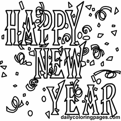 4 FREE Printable New Years Coloring Pages Free Coloring Pages