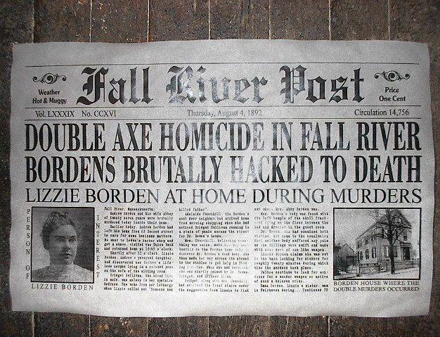 Mordet på Andrew och Abby Borden i Fall River, MA, USA