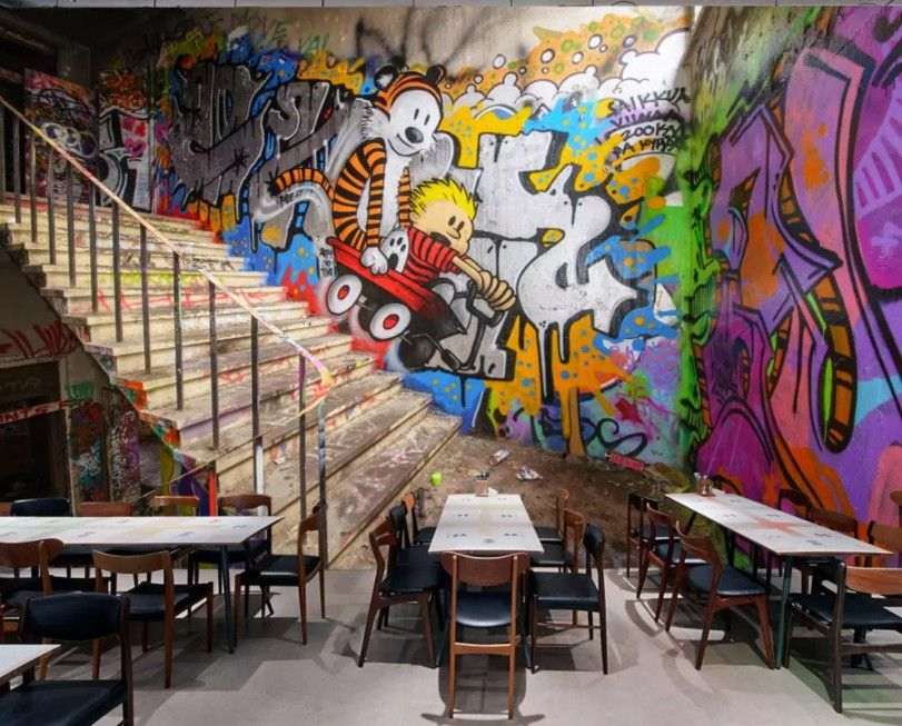 Pin By Custom Wallpapers And Murals On Graffiti Series Wallpaper