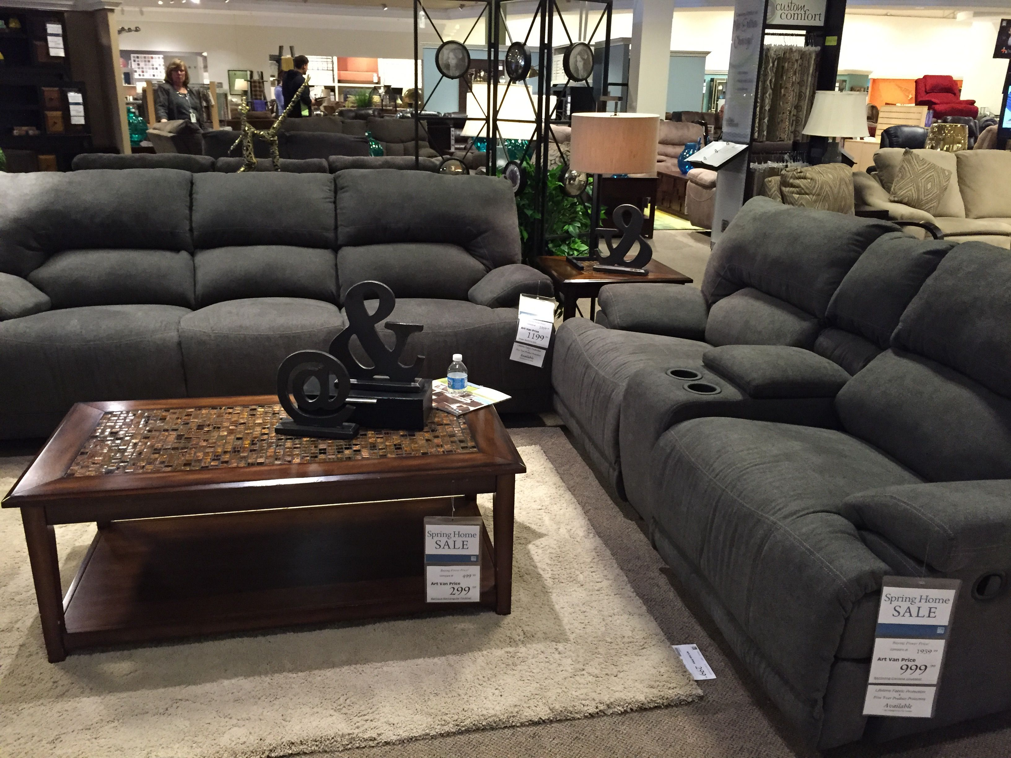 Shelby collection from Art Van Power Recline Sofa and loveseat w