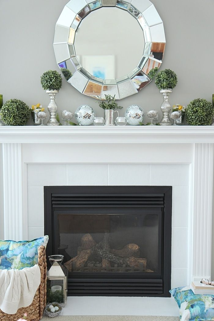 How to Paint Tile - Easy Fireplace Paint Makeover | Painted tiles ...