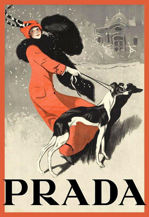 Classy Art Ad Haute Couture Prada Chic Deco Poster Print  | eBay