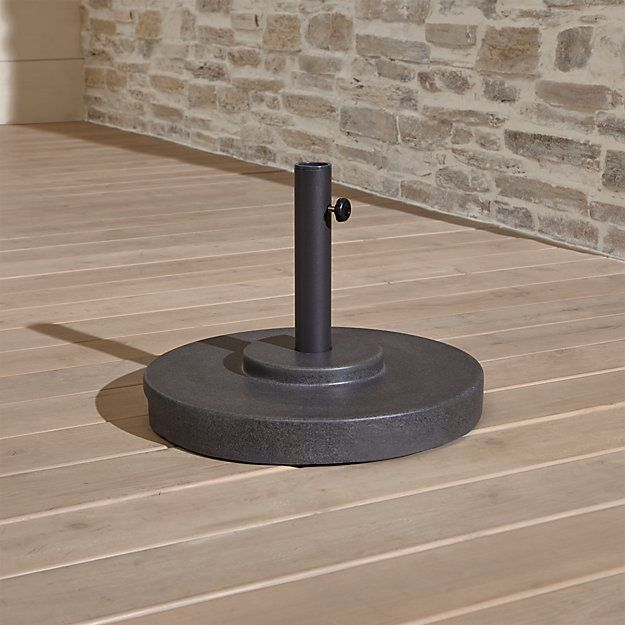Charcoal Finish Outdoor Patio Umbrella Stand | Crate And Barrel