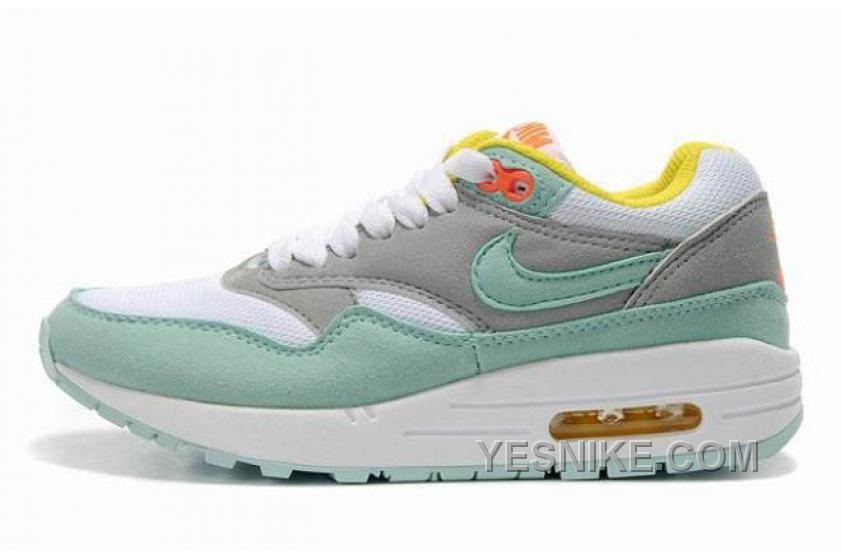 Big Discount  66 OFF Nike Air Max 1 Womens Green Grey Black Friday Deals 2016XMS1552