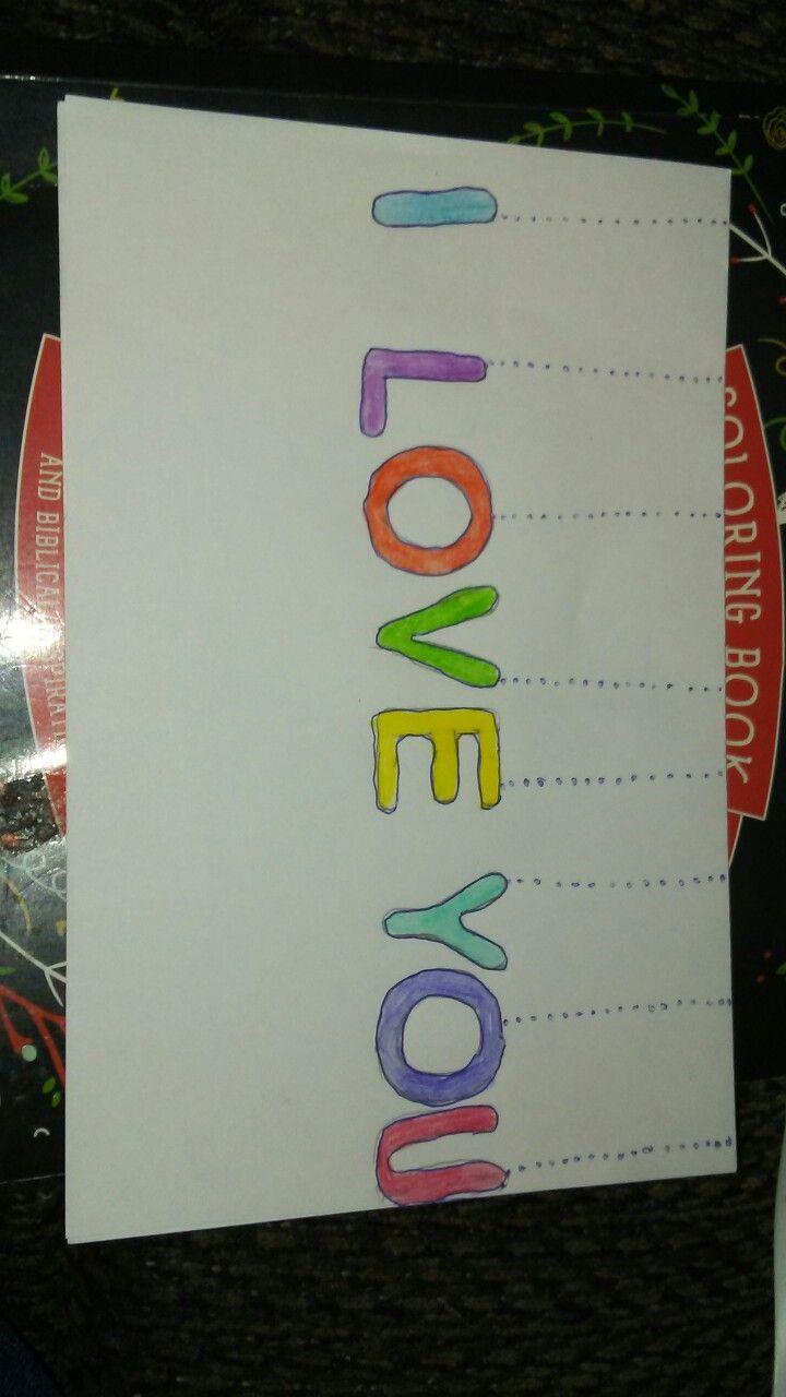 I love you Christmas card | Creative Letter Ideas | Pinterest