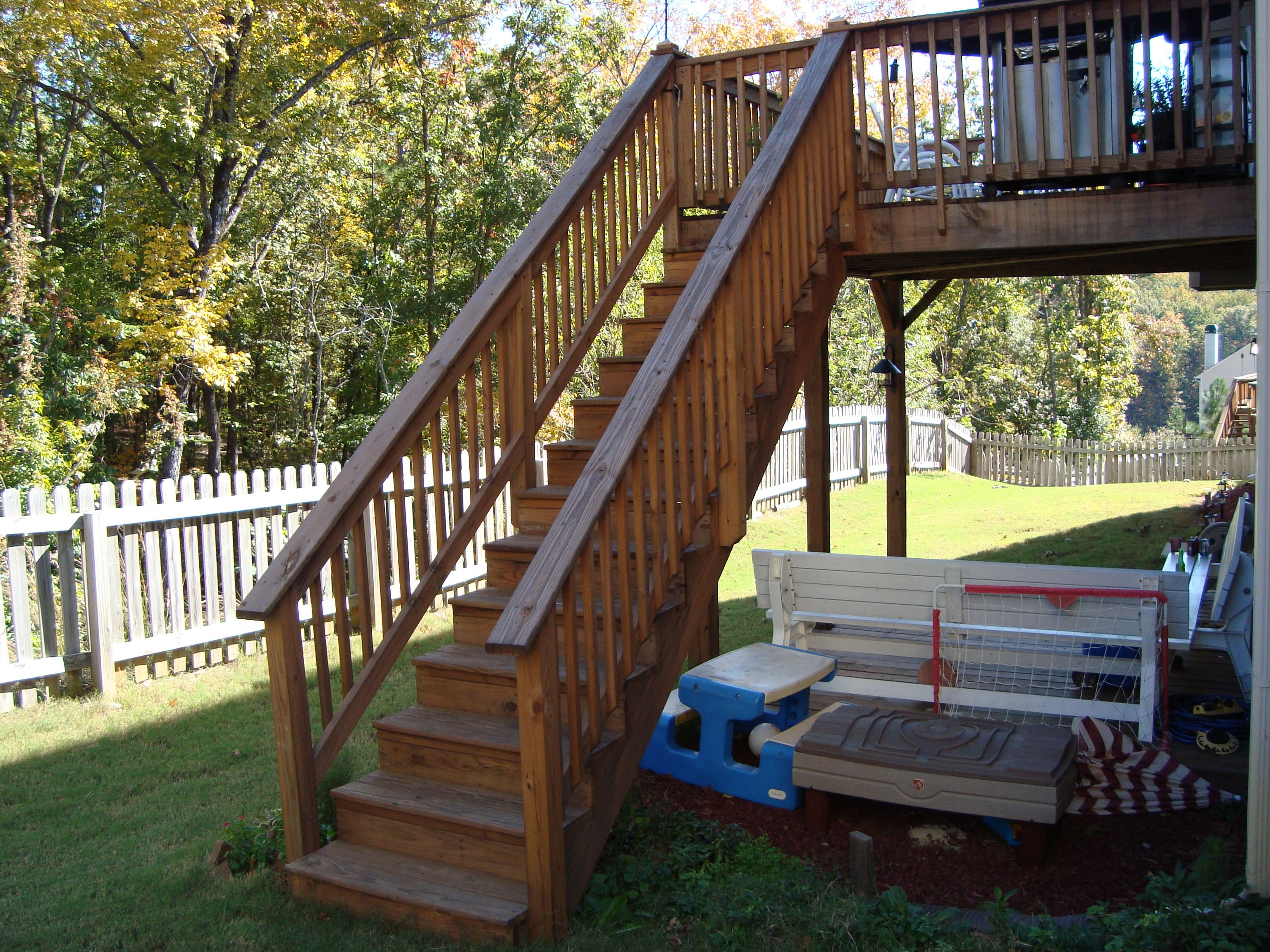 Deck Stair Railing Installation Deck Stair Railing Placement And