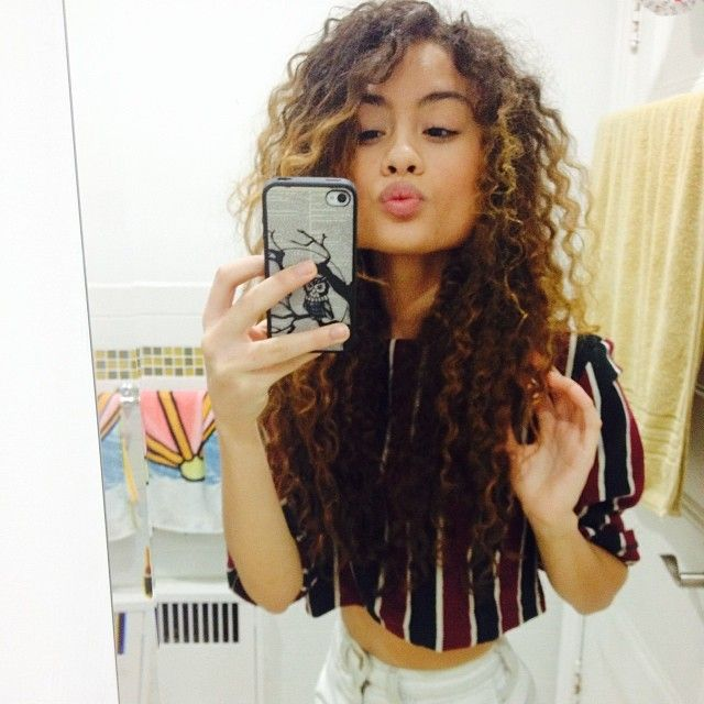 Tight Curls with Caramel Blonde Highlights  Closets