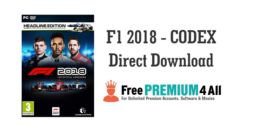 F1 2018 CODEX First video game, Racing video games, Free