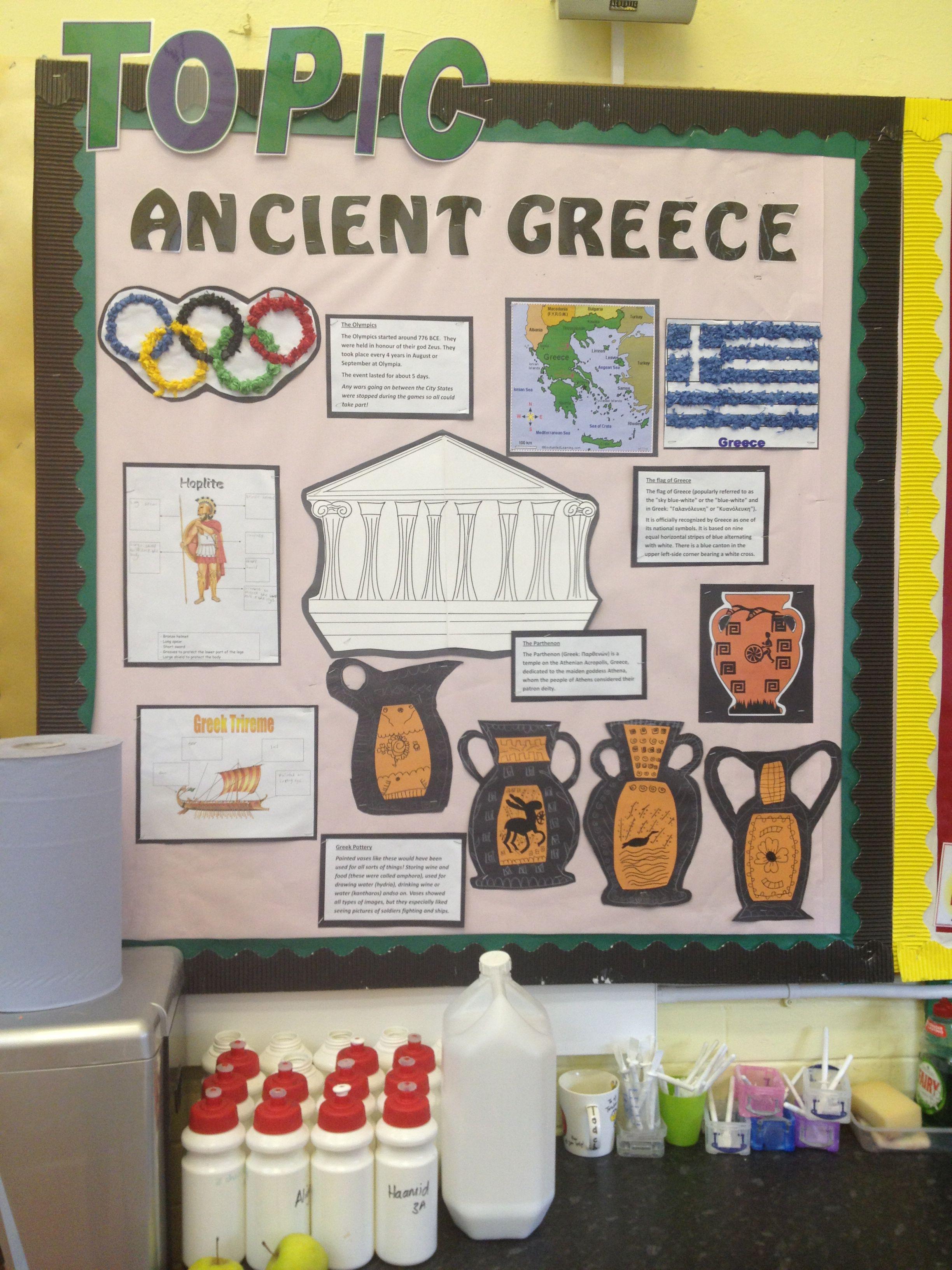 Ancient Greece Display Topic
