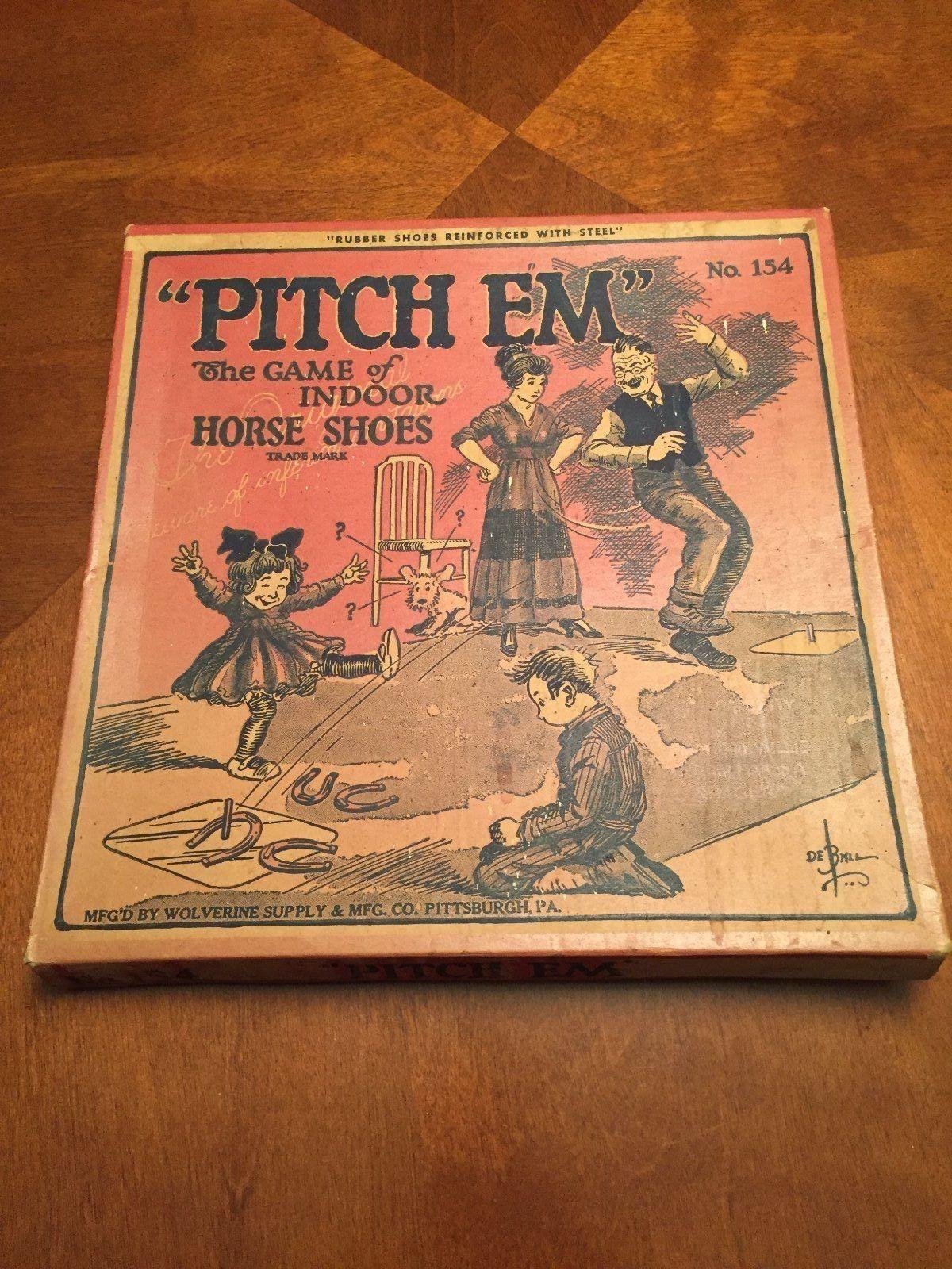antique 1900 u0027s indoor horseshoe game