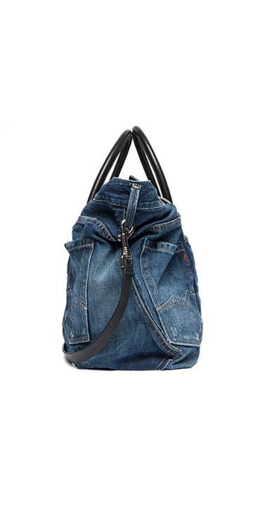 7934f42fba Borsa in pelle e recycle denim - Replay | Denim jeans | Denim bag ...