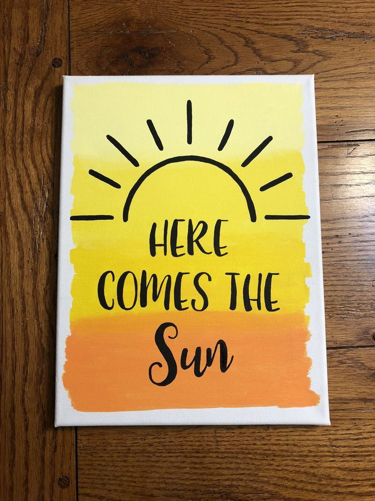 Hier kommt das Sonnenbild -   # #easypaintings