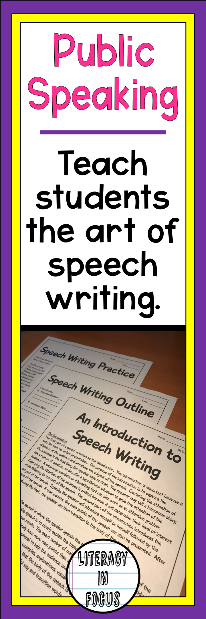 Introduction To Speech Writing Text Speech Outline  Speech