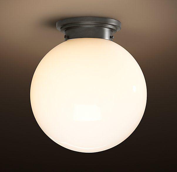 Luiza 39 S Room Ceiling Light Parisian Architectural Milk Glass Poste Flushm