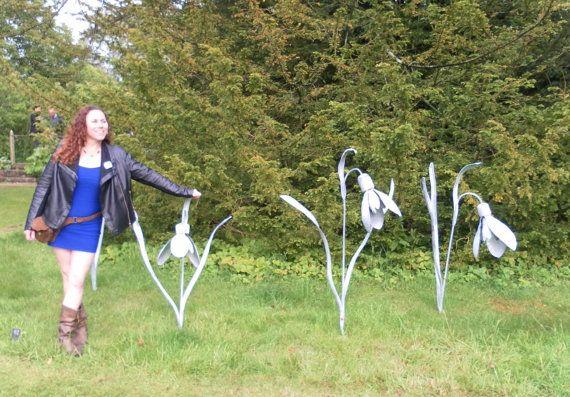 Snowdrop Garden Sculpture Beautiful Giant by ArtisanIronwork
