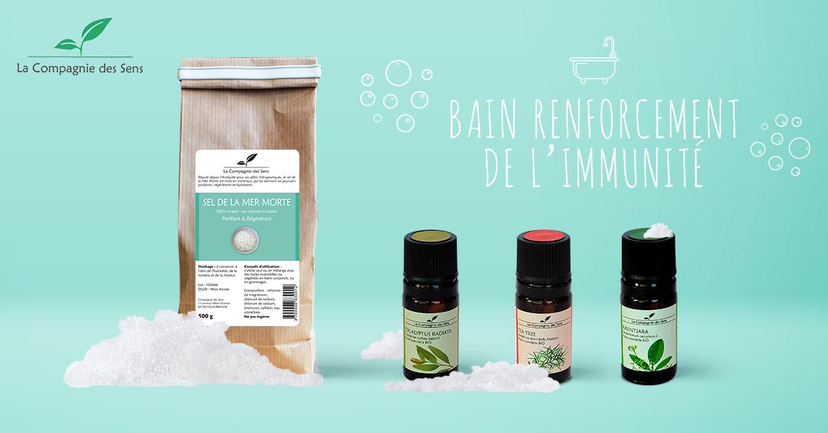 renforcer vos d fenses immunitaires avec un bain aux huiles essentielles sels de bain maison. Black Bedroom Furniture Sets. Home Design Ideas