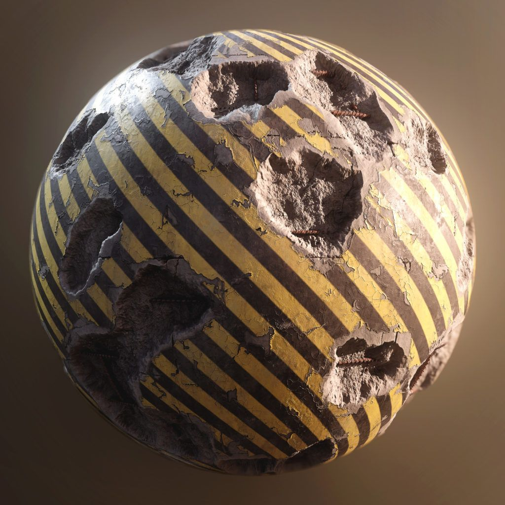 Generating painted old concrete in substance texture