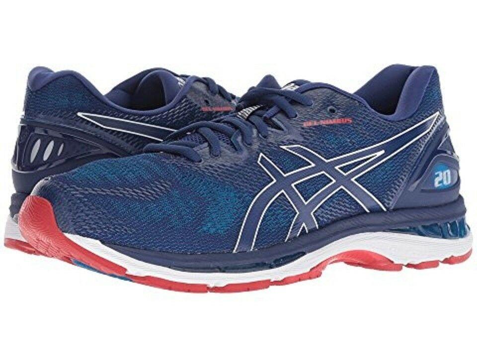 ebay sponsored asics t800n.400 gel nimbus 20 mns m blue print mesh synthetic running shoes sneakers blue