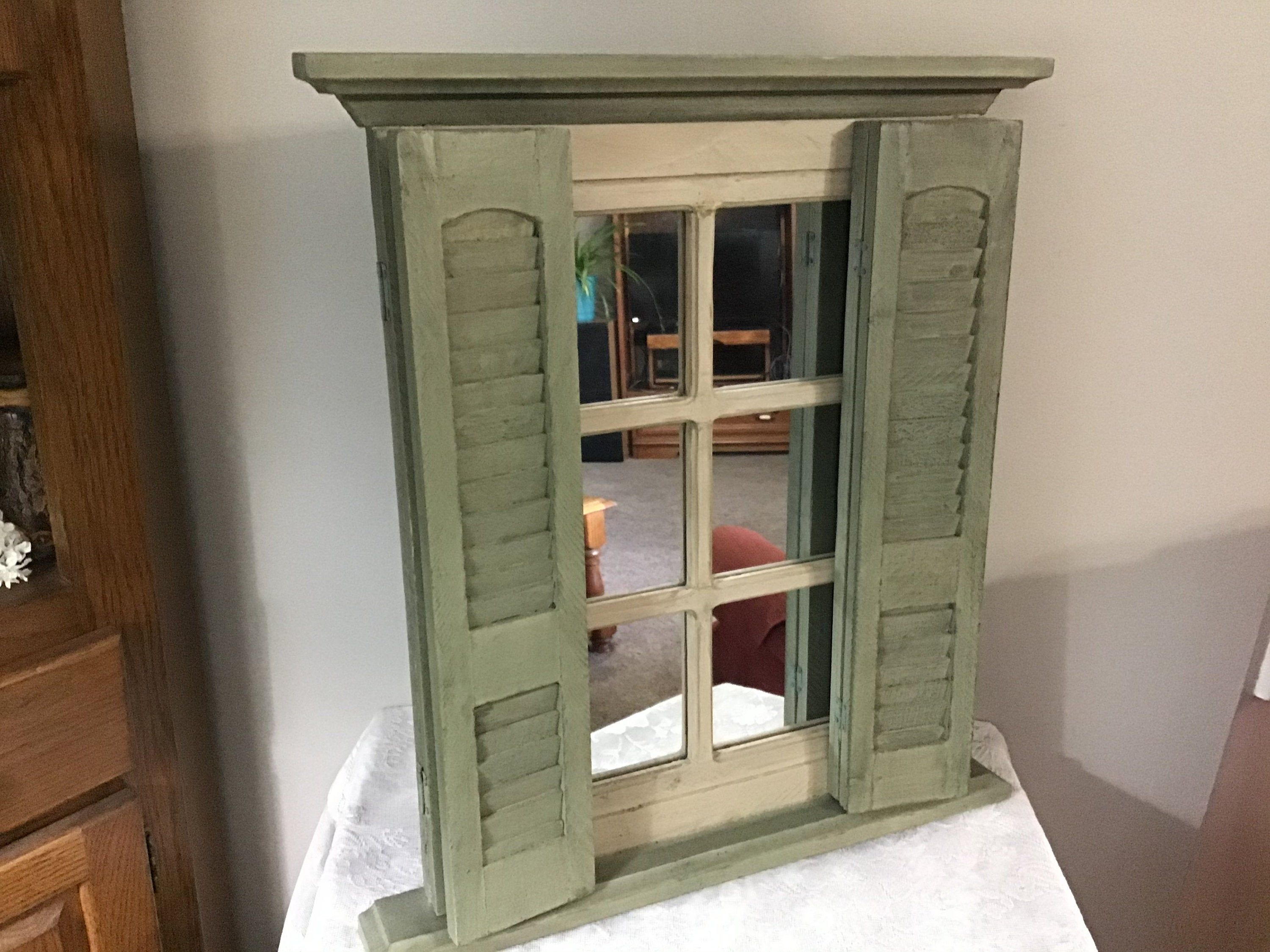 Vintage Mirrored Shutter Window Mirror With Shutters Wall Mirror With Doors Home Interiors Shutter Mirror Window Mirror Shutter Wall