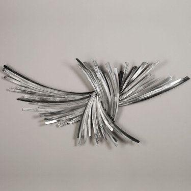 Infinity Silver Metal Wall Sculpture | Wall art | Pinterest | Metal ...
