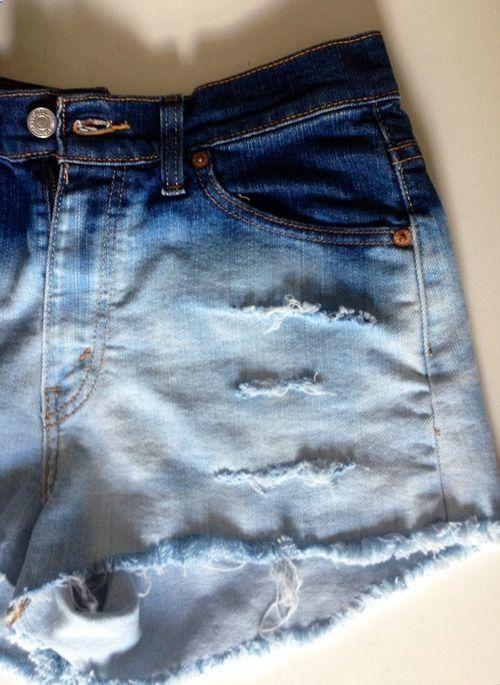 Decolorar Nueva Imagen Para El Short Bleached Shorts Diy Shorts Diy Jean Shorts