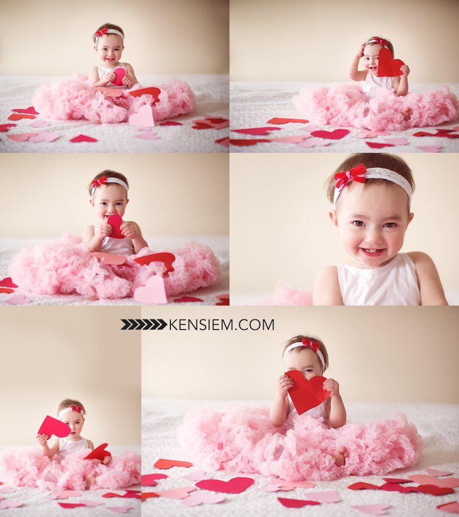 Baby photography valentine baby girl poses indoor valentines baby portraits www kensiem com winchester virginia photographer