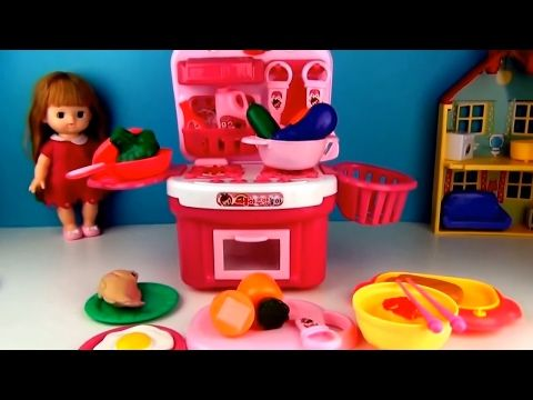Toys Fun Land: Play Kitchen Fun with Cute Doll  Baby Cooking Kitc...