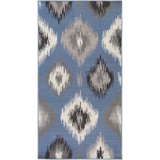 Mavrick Blue Area Rug