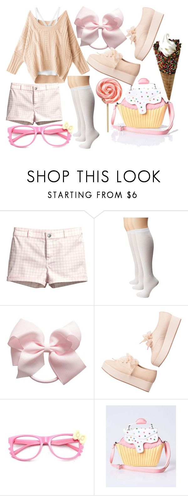 """Untitled #317"" by echorose-1 on Polyvore featuring H&M, Sperry, Monki and Hello Kitty"