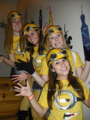 Coolest Despicable Me Minion College Girl\u0027s Group Costume Costumes - halloween group costume ideas for work