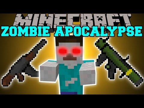 minecraft zombie apocalypse mod cities guns invasions