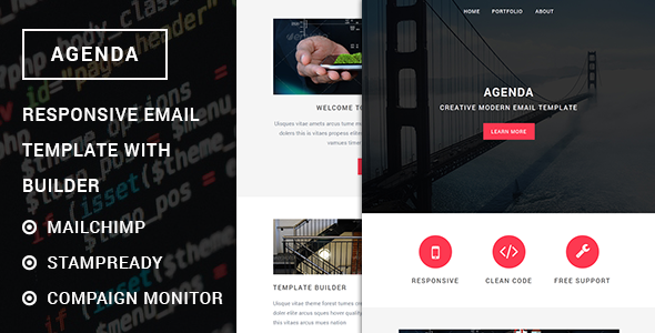 Agenda  Responsive Email Template With Stampready Builder
