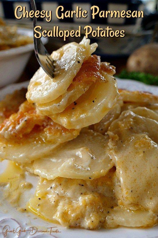 Cheesy Garlic Scalloped Potatoes - Great Grub, Del