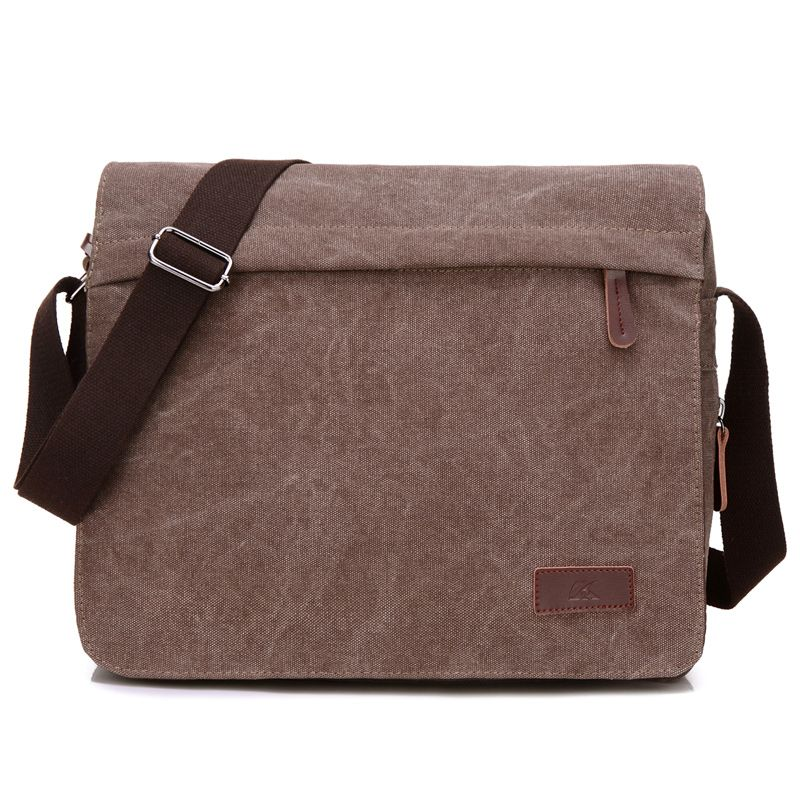e8f61bacd901 Fabra New Canvas Men Messenger Shoulder Bag England Big Crossbody Bags  Simple Casual Multi-Function Vintage Middle Size Handbags