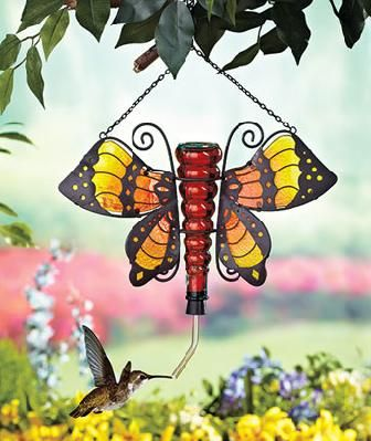 Butterfly Garden Decor HUMMINGBIRD FEEDER