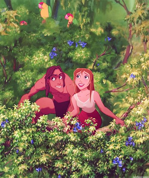 Tarzan and Jane from Disney's Tarzan.  Very sweet movie.  Came out the year I was born.  :)