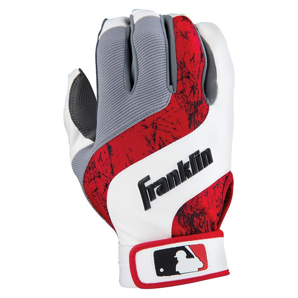 Franklin Youth Shok-Wave Small Batting Glove - White/Red