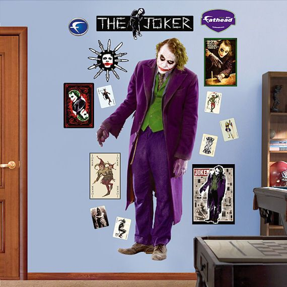 the joker decor | The Joker Dark Knight Fathead Wall Sticker - Kids Wall  Decor Store