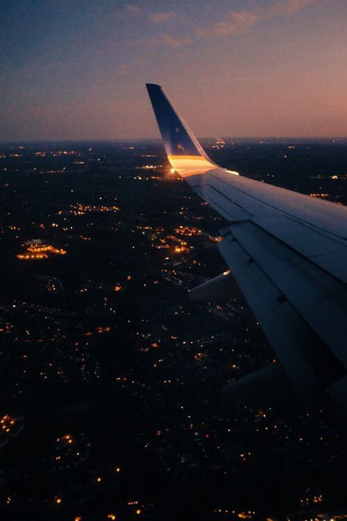 Travel And Night Image Travel Aesthetic Sky Aesthetic Airplane View