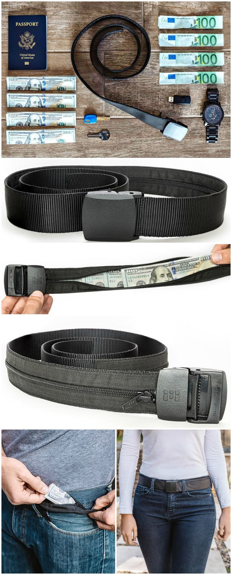 Travel Security Belt Your Insurance Against A Disastrous Holiday Con Imagenes Escondites Cinturones Productos Innovadores