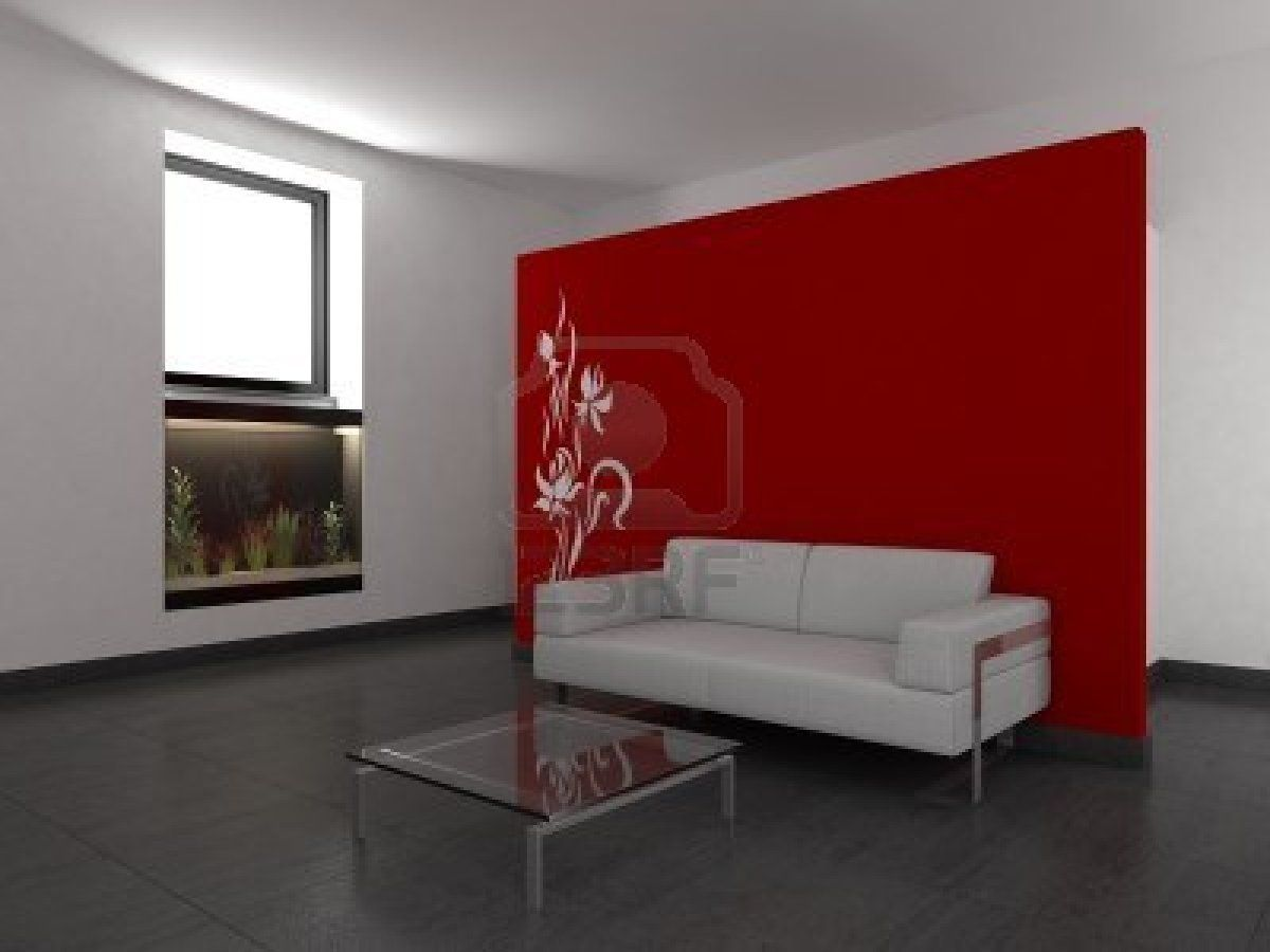 salon moderne avec mur rouge banque d 39 images photos illustrations id e d co rouge. Black Bedroom Furniture Sets. Home Design Ideas