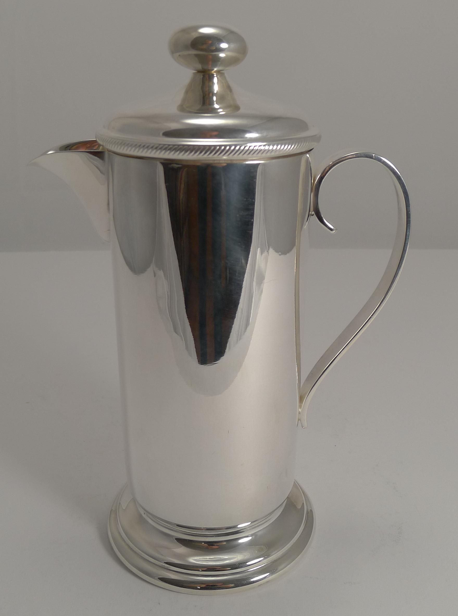 Vintage English Silver Plated Cocktail Mixer c.1920 - Top Maker